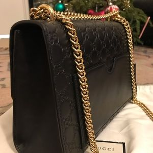 677610425d4f Gucci Bags | Padlock Signature Shoulder Bag In Black | Poshmark